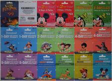 17 Different DISNEYLAND Passport Disney Gift Cards 2009: Fantasmic, Mickey++(+1)