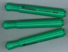 Lot of 3 Flourescent Green Universal Chisel Felt Tip Highlighters