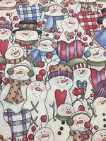 Dianna Marcum Marcus Brothers Snow Buddies Cotton Fabric Quilt Sew 1.5 Yds OOP
