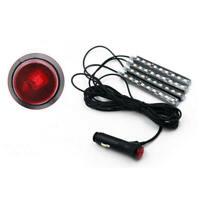 4X LED Innenbeleuchtung Streifen Auto Fußraum Beleuchtung Atmosphäre Licht Strip