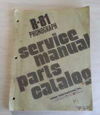 1976 Rowe Jukebox R-81 Phonograph Service Manual & Parts Manual