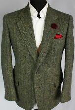 Harris Tweed Blazer Chaqueta Verde 40S increíble color 2839