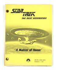 "STAR TREK: TNG ORIGINAL SCRIPT -""A Matter of Honor,"" Teleplay by Burton Armus"