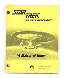"STAR TREK: TNG ORIGINAL SCRIPT -""A Matter of Honor,"" Teleplay by Burton Armus"