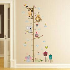 Growth Chart Cartoon Animals Kids Height Measure Ruler Nursery Wall Sticker