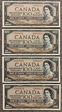 Lot of 4 Consecutive Bank of Canada $100 - BC-43b - S/N: B/J5685670 - B/J5685673
