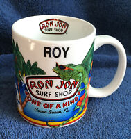 Ron Jon Surf Shop Cocoa Beach Florida Roy Ceramic Coffee Mug iguana surfer 10 oz