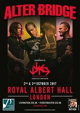 ALTER BRIDGE /PARALLAX ORCHESTRA 2017 LONDON CONCERT TOUR POSTER-Hard Rock Music