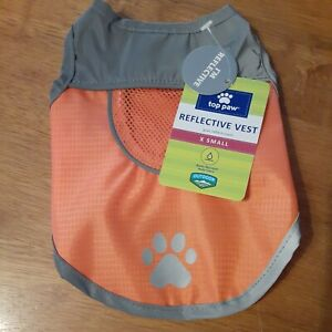 NEW Top Paw Outdoor Reflective Pet Safety Vest - XS-XL - water resistant - NWT