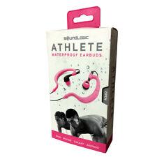 SoundLogic Athlete Waterproof & Sweatproof In-Ear Sport Earbuds Earphones Pink