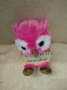 BABW / Build a Bear Workshop SmallFrys pink owl net new with tags