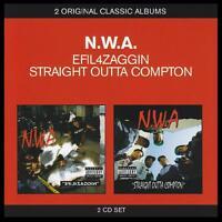N.W.A. (2 CD) EFIL4ZAGGIN + STRAIGHT OUTTA COMPTON ~ 80's GANGSTA RAP NWA *NEW*