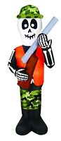HALLOWEEN 7 FT SKELETON HUNTER SHOTGUN GUN  Airblown Inflatable YARD DECOR