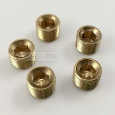 "5pcs 1/8""NPT Brass Internal Hex Thread Socket Pipe Plug"