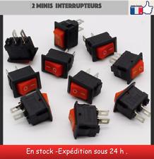 2 Mini interrupteurs 2 positions 12 V miniature toggle switch
