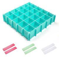 Plastic Grid Drawer Adjustable Separator Divider Cabinet Storage Organizer Home