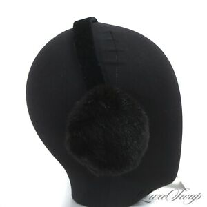Anonymous Made in USA Genuine Mink Fur Black Velvet Banded Hair Head Band LUXE