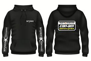 Hoodie BLACK CAN AM Spyder Racing motorbike motorcycle USA VMX Vinduro