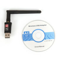 600Mbps Dual Band 2.4/5GhzWireless USB WiFi Network Adapter w/Antenna 802.11ACSC
