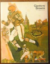 1967 New York Giants vs Cleveland Browns Football Program-Fran Tarkenton