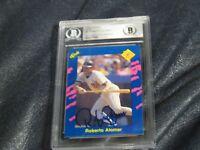 Roberto Alomar Autographed 1990 Classic Blue Baseball Card Beckett Cert