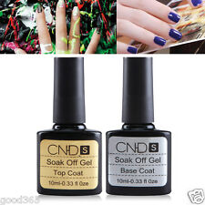 2pcs Top Coat   Base Coat UV Gel Nail Polish Primer Nail Art CNHIDS Gel Polish