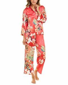 N Natori 2Pc Satin Pajama Pant Set Women's