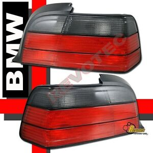 92-98 BMW 3-Series E36 2Dr Coupe Convertible Red Smoke Tail Lights 1 Pair