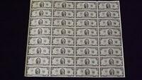 Mint Currency Uncut Sheet 32 x $2 Bill Dollar GEM Federal Reserve Notes