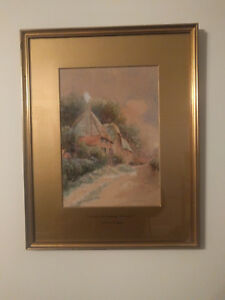Leyton Forbes Watercolour, Cottage near Newquay Cornwall