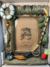 Vintage Wild Thang Green Pumpkin Seed Lure W/picture Frame For Your Big Catch!