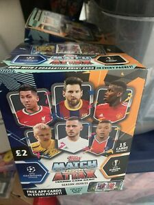 Match Attax 2020/21 Full Box 50 Packs 15 Cards Per Packet, 750 cards, Sealed.