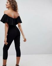 Outrageous Fortune Bardot Tailored Jumpsuit with Tapered Leg