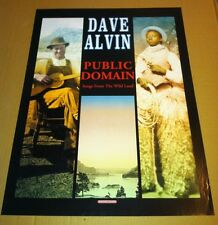 The Blasters DAVE ALVIN 2000 Never Displayed PROMO POSTER of Public Domain CD