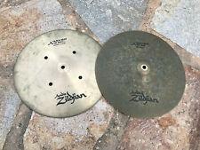 """Vintage Zildjian 14"""" Quick beat Hihat Drum Cymbals hi hat"""