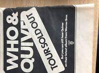 u1-5 ephemera 1971 original advert concert the who quiver sold out tour