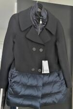 Cinzia Rocca Mixed Media Wool Peacoat Coat w/removable insert in Navy US10 NWT