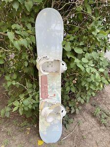 MINT LTD Belle Women's Snowboard 141cm made in Canada With Head P1W Bindings