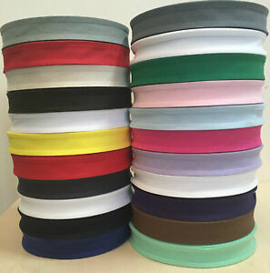 5 METERS OF 25MM (1 INCH) COTTON BIAS BINDING TAPE  - VARIOUS COLOURS~UK STOCK