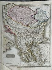 1809 TURKEY IN EUROPE BALKANS HUNGARY HAND COLOURED ANTIQUE MAP BY SAMUEL NEELE