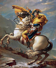 CHPT107  HD Print Oil Painting wall art Canvas,Napoleon Bonaparte on Horse