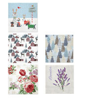 New PAW 3 Ply Lunch Napkins 33cm x 33cm Multi Designs Pack of 20 to 120 Kitchen