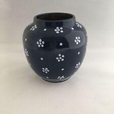 Gmundner Keramik Dirndl Blau Vase ca. 11.5cm hoch