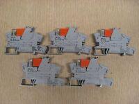 5 Wago 788-312 24VDC 250VAC 2x8A Relay Socket w/ Relay-Status Indicator Lot Used