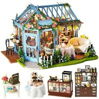 CUTEBEE Dollhouse Miniature with Furniture, DIY Wooden DollHouse Kit, 1:24 Sc...