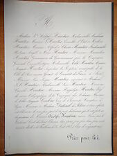 ADOLPHE HEURTIER 1863 Familles DUBREUIL DE RHINS COUDOUR