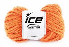 Voluminosos de hilo de tejer No. 17627. naranja quemado. 50% lana, 50% Acrílico. Nuevo.