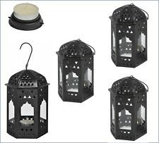 Set of 4 traditional metal souk tea light Moroccan floor lantern  home & garden