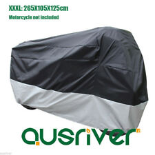 Large Waterproof Motorcycle Cover Windproof Clip for Honda 3XL 265x105x125cm