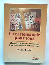 CARTOMANCIE POUR TOUS MANUEL PRATIQUE DIVINATION CARTES 1990 LESLIE ILLUSTRE